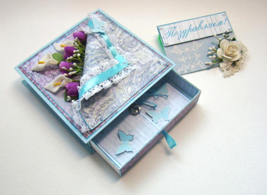 Скрапбукинг идея для подарка 948